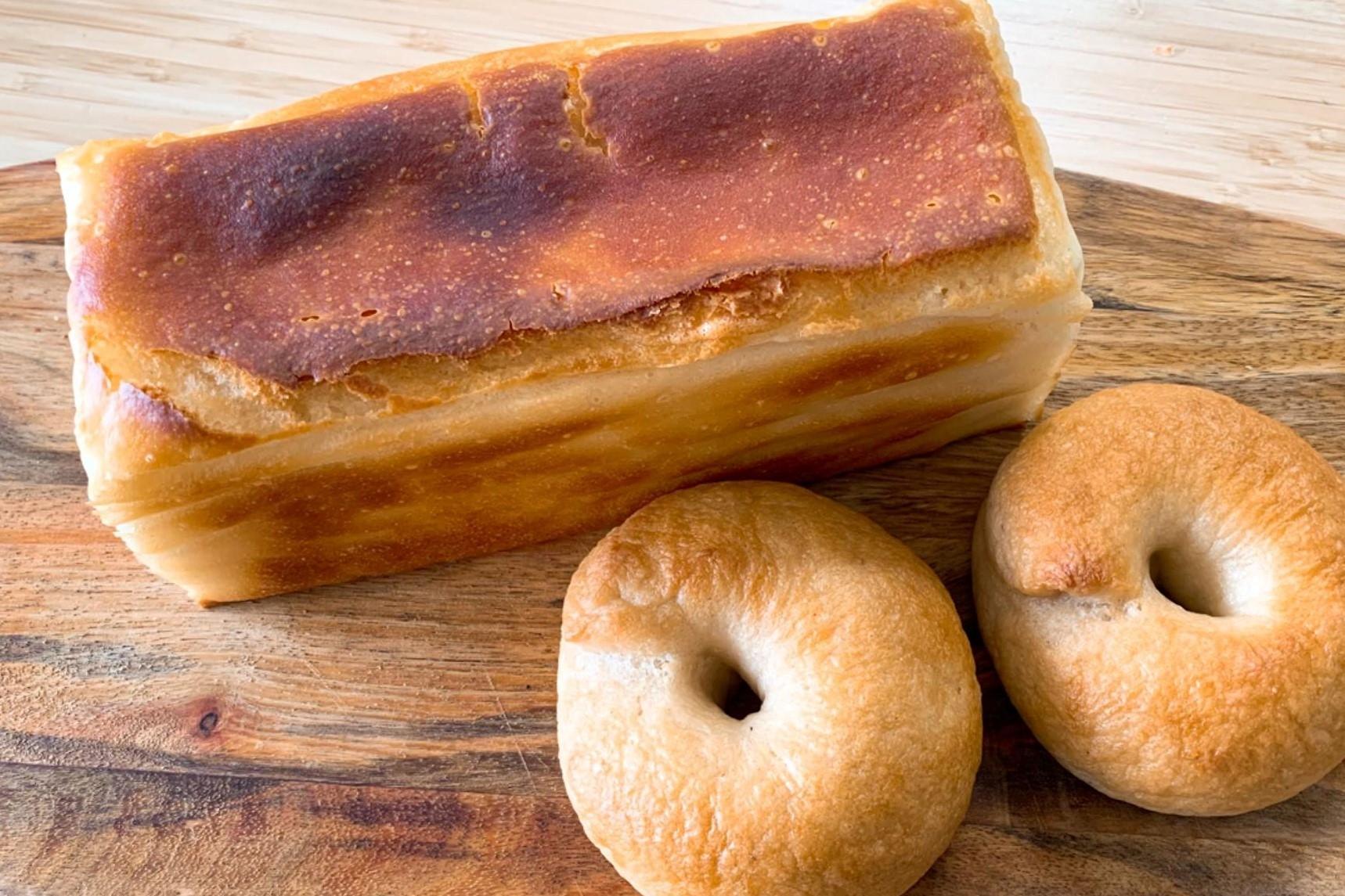 米粉食パンと米粉ベーグル