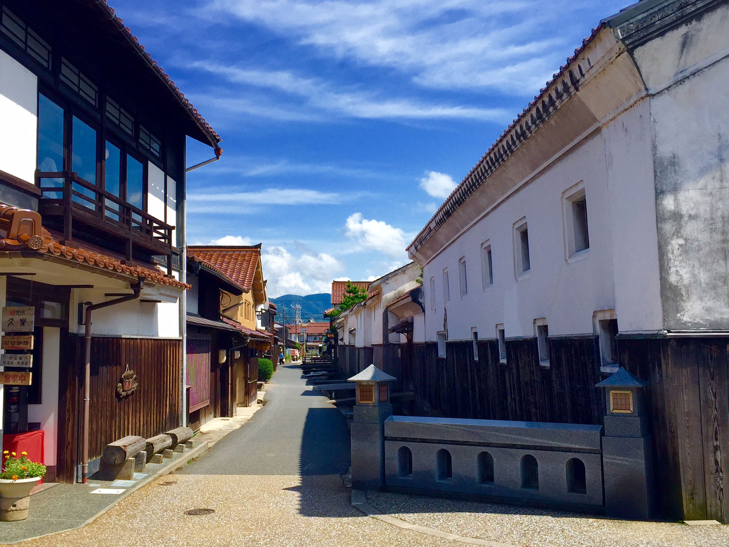 倉吉市の白壁土蔵群